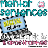 Mentor Sentences - Quotation Marks and Apostrophes -Secondary - PAPERLESS