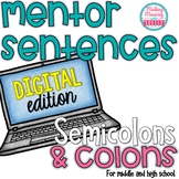 Mentor Sentences - Semicolons and Colons - Secondary - PAPERLESS