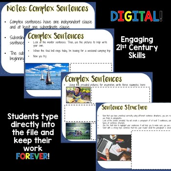 DIGITAL Mentor Sentences - Sentence Structure -Middle and High School - UPDATED