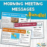 Morning Meeting Slides | Year-Long BUNDLE