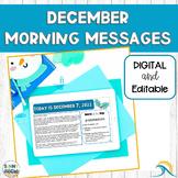 DIGITAL Morning Meeting Messages for December