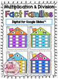 DIGITAL Multiplication & Division Fact Families Task Cards