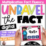 DIGITAL Multiplication Fact Fluency Task Cards | 3rd Grade | 4th Grade |