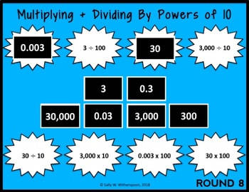 DIGITAL Multiplying + Dividing by Powers of 10 Game for Google Drive