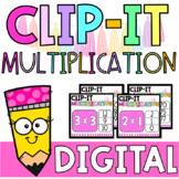 DIGITAL Multiplying Numbers Cards | Clip It Multiplication