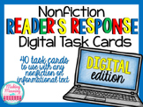 NONFICTION Reader Response Task Cards - PAPERLESS