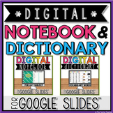 DIGITAL NOTEBOOK & DICTIONARY FOR ANY SUBJECT in GOOGLE SLIDES™