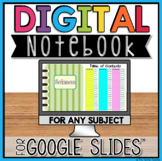 DIGITAL NOTEBOOK FOR ANY SUBJECT IN GOOGLE SLIDES™