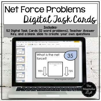 DIGITAL Net Force Problem Task Cards