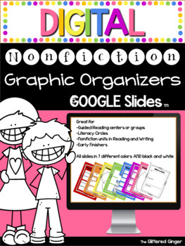 DIGITAL Nonfiction Graphic Organizers Pack
