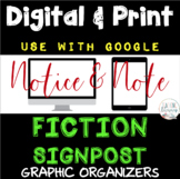 DIGITAL & PRINT Notice & Note Fiction Signposts -  Google - Close Reading