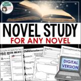 DIGITAL Novel Study Bundle - Use with ANY NOVEL - DISTANCE