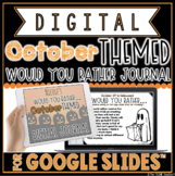 """DIGITAL OCTOBER THEMED """"Would You Rather..."""" JOURNAL IN GO"""
