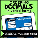 DIGITAL Ordering Decimals Game: Expanded, Word, Unit, and Standard Form