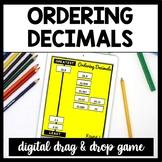 DIGITAL Ordering Decimals Game, Decimal Number Sort for Google Drive, 5.NBT.3B