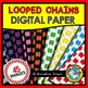 LOOPED CHAINS DIGITAL PAPER BACKGROUNDS RAINBOW CLIPART