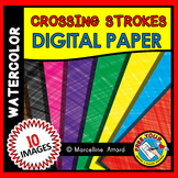 CROSSING STROKES DIGITAL PAPER BACKGROUNDS WATERCOLOR CLIPART