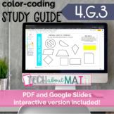 DIGITAL & PAPER: Color-Coding Study Guide: 4.G.3 Line Symmetry