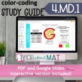 DIGITAL & PAPER: Color-Coding Study Guide: 4.MD.1 Measurem