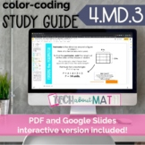 DIGITAL & PAPER: Color-Coding Study Guide: 4.MD.3 Area and
