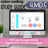 DIGITAL & PAPER: Color-Coding Study Guide: 4.MD.5 Angles