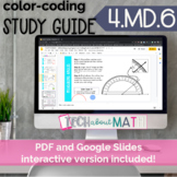 DIGITAL & PAPER: Color-Coding Study Guide: 4.MD.6 Measurin