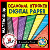 WATERCOLOR DIGITAL PAPERS RAINBOW CLIPART BACKGROUNDS