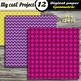 DIGITAL PAPER Purple & Pink - Argyle, stripes, polka dots, chevron, quaterfoil