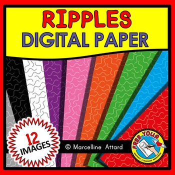RIPPLES DIGITAL PAPER CLIPART PACK: BACKGROUNDS CLIPART