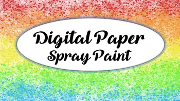 DIGITAL PAPER SPRAY PAINT MULTICOLORS