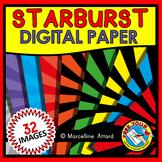 STARBURST DIGITAL PAPER CLIPART PACK: SUPERHERO CLIPART BA