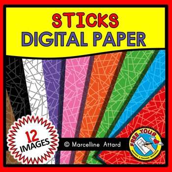 STICKS DIGITAL PAPER CLIPART PACK: TEXTURED BACKGROUNDS
