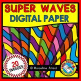 WAVES DIGITAL PAPER BACKGROUNDS CLIPART
