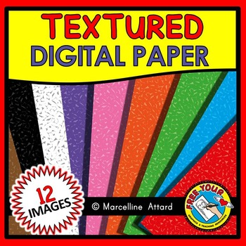 TEXTURED DIGITAL PAPER CLIPART PACK: TEXTURED BACKGROUNDS
