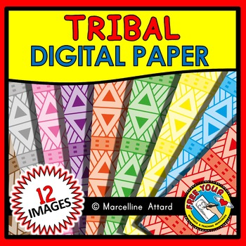 TRIBAL DIGITAL PAPER CLIPART PACK: BACKGROUNDS CLIPART