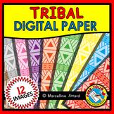 TRIBAL DIGITAL PAPER BACKGROUNDS CLIPART