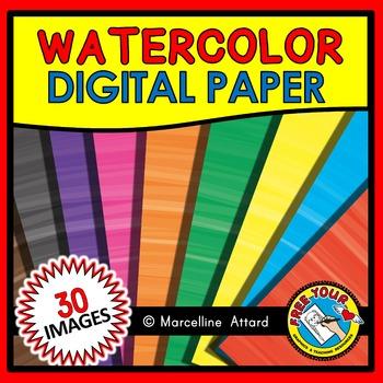WATERCOLOR DIGITAL PAPER: WATERCOLOR BACKGROUNDS: WATERCOLOR CLIPART BACKDROPS