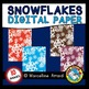 WINTER CLIPART (SNOWFLAKES DIGITAL PAPER BACKGROUNDS WATERCOLOR THEME)