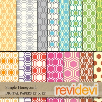 DIGITAL PAPERS - Honeycomb