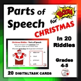 PARTS of SPEECH in Christmas Riddles ...  DIGITAL Boom Learning™ Paperless Deck