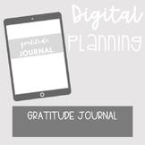 DIGITAL PLANNING TEMPLATE: Gratitude Journal