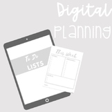 DIGITAL PLANNING TEMPLATES: Weekly Spread, To Do, Lesson P