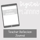 DIGITAL PLANNING: Teacher Daily Reflection Journal