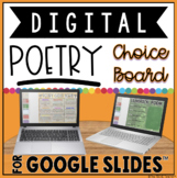 DIGITAL POETRY CHOICE BOARD FOR GOOGLE SLIDES™