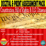Constitution, Bill of Rights, Citizens Assessment Pack-DIG