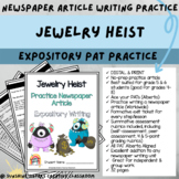 DIGITAL & PRINT Newspaper Article - Jewelry Heist   Albert