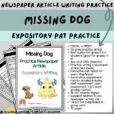 DIGITAL & PRINT Newspaper Article - Missing Dog   Alberta