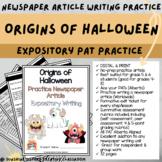 DIGITAL & PRINT Newspaper Article - Origins of Halloween  