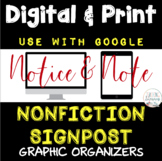 Notice and Note NONFICTION Signposts PRINT and DIGITAL Google Classroom