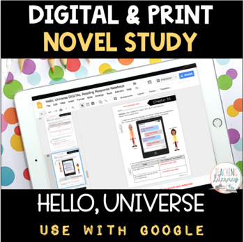 Hello, Universe Novel Study DIGITAL and PRINT